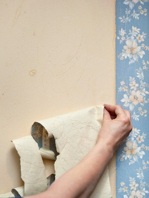 Wallpaper removal in Carversville, PA by Henderson Custom Painting.