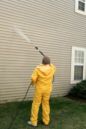 Pressure washing in Lansdale, PA by Henderson Custom Painting.