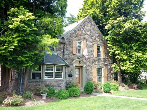 Repainting wood work on stone house Elkins Park, PA