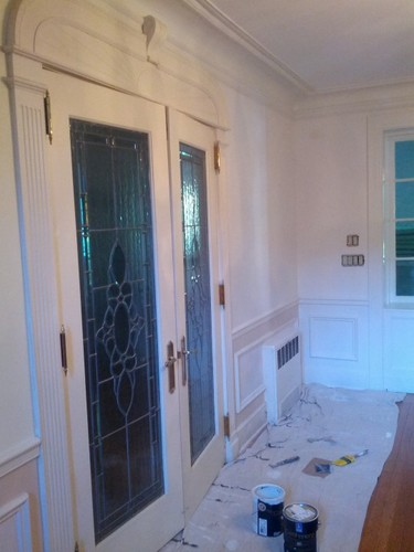 Re-painting plaster and wood work in 1930's mansion Meadowbrook, PA